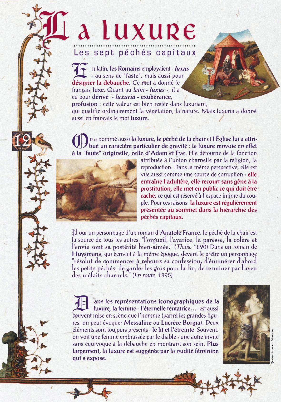Les 7 péchés capitaux - Sepia & Bodoni